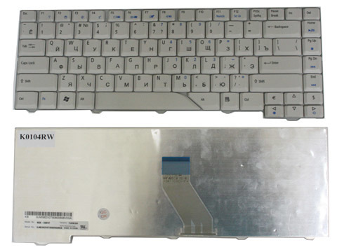 Клавиатура Acer Aspire 4220 4230 4310 4520 4710 4720 4900 5220 5230 5300 5310 5315 5320 5520 5700 5910 5920 5924 5930 Series White