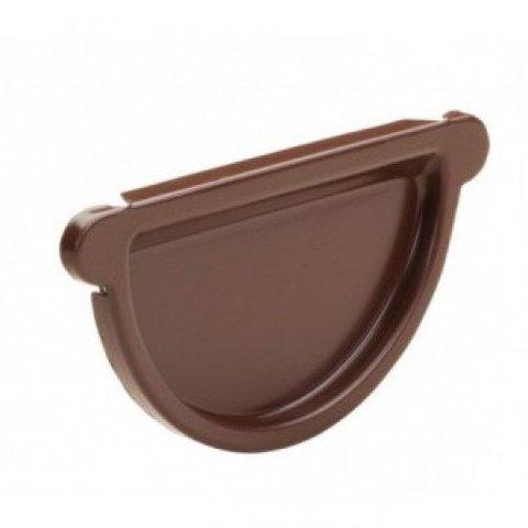 Заглушка желоба ф125 (RAL 8017-коричневый шоколад)