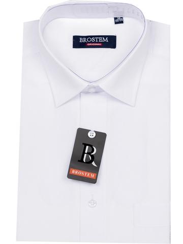 Brostem Рубашка для мальчика подростковая с коротким рукавом CVC2 белая