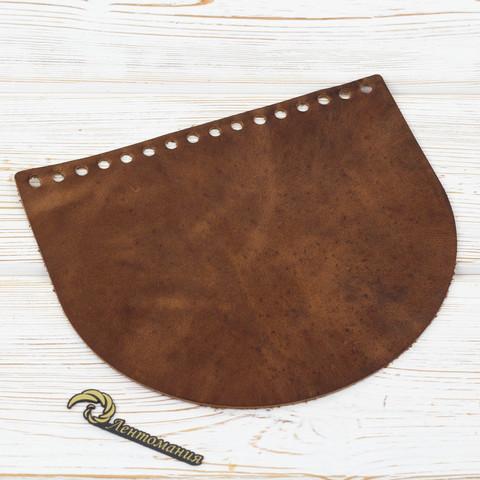 """Клапан для сумочки кожаный """"Crazy Horse"""" 19*16 см"""