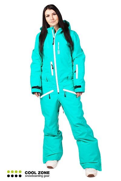 Сноубордический комбинезон женский Cool Zone бирюзовый