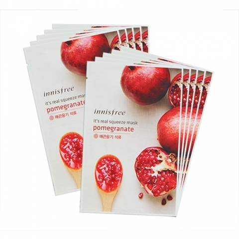 Innisfree Маска для лица с гранатовым соком It's Real Squeeze Mask Pomegranate
