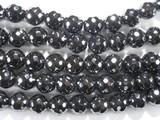 Нить бусин из гематита прессованного, фигурные, 10 мм (шар, граненые)