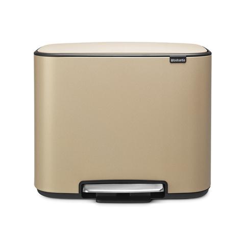 Мусорный бак Bo  (36 л), Минерально-золотой, арт. 121623 - фото 1