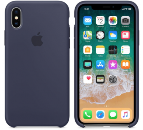 iPhone X/XS Silicone Case Темно Синий
