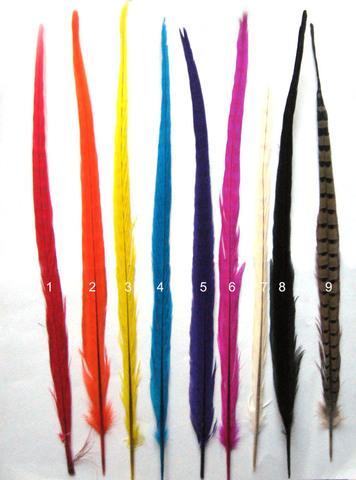 Перо фазана ,  длина ок. 40-45 см. (выбрать цвет)