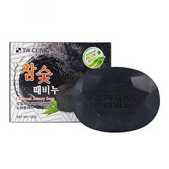 3W Clinic Soap For Face And Body With Bamboo Charco - Мыло для лица и тела с бамбуковым углём
