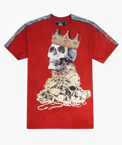 Футболка The Saints Sinphony SKULL CROWN RED AND GOLD