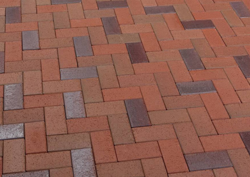 Клинкерная тротуарная брусчатка Feldhaus Klinker, P405DF,