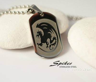 Spikes, Подвеска-жетон «Spikes» из ювелирной стали