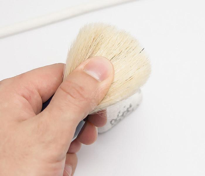 RAZ302-4 Помазок из щетины кабана с деревянной рукояткой синего цвета фото 05