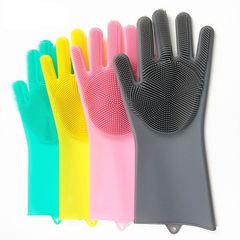 Силиконовые перчатки для мытья посуды Magic Brush