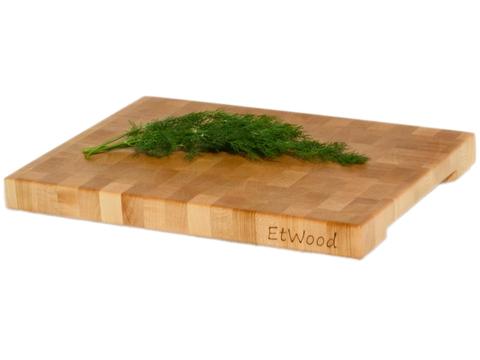 деревянная  Торцевая разделочная доска 35x25x3 см. клен