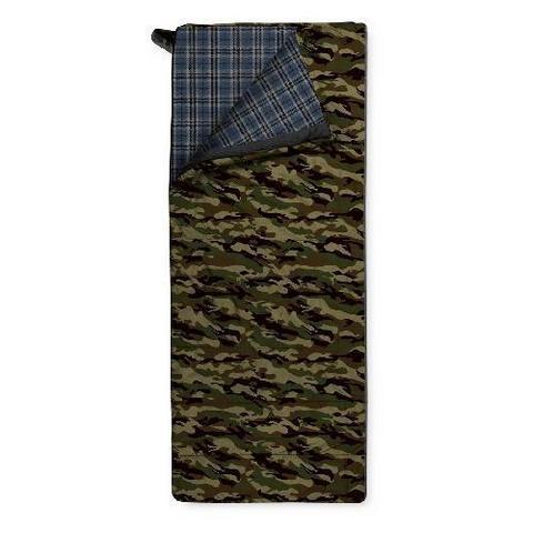 Спальный мешок Trimm Comfort TRAMP, 195 R (зеленый, камуфляж, синий)