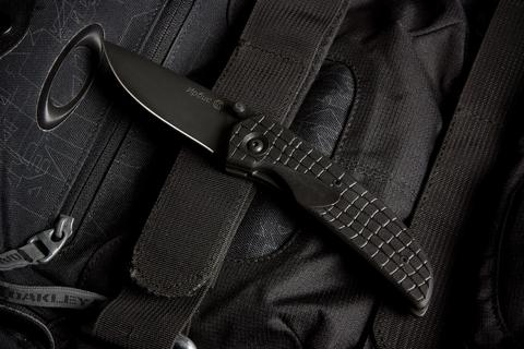 Складной нож Ирбис Черный Эластрон