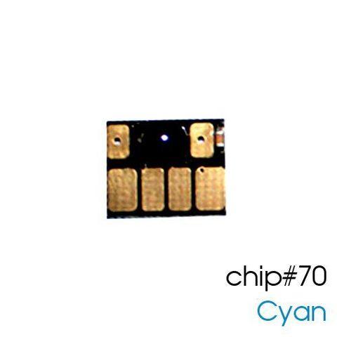 Чип голубой для картриджей (ПЗК/ДЗК) HP 70 Cyan для DesignJet Z2100, Z5200 (авто обнуляемый), независимый