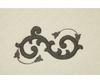 Элитный коврик для ванной Ricciolo бежевый с коричневой аппликацией от Old Florence