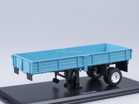 Semitrailer ODAZ-885 blue Start Scale Models (SSM) 1:43