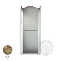 Душевая дверь Migliore Diadema ML.DDM-22.581.ST.BR 80xH195 см, стекло матовое/декор R (DX