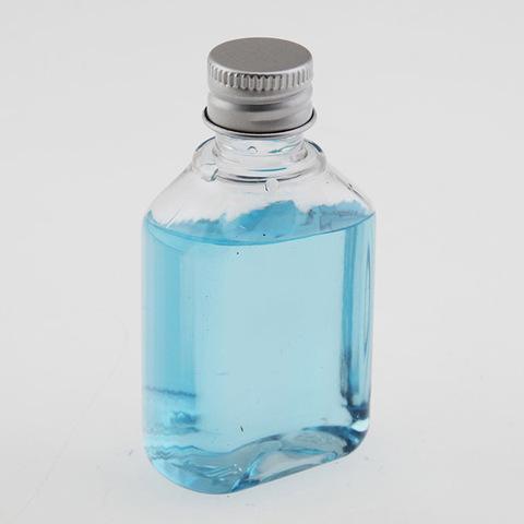 Бутылка плоская пластиковая с алюминиевой крышкой