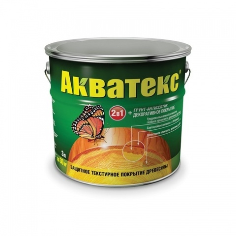 Пропитка для дерева Акватекс белый 3л Рогнеда
