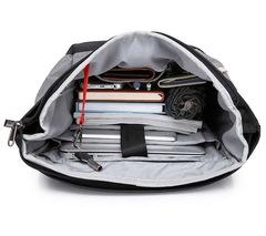 Рюкзак антивор молодёжный для ноутбука 15,6 KAKA 17002 серый в полоску