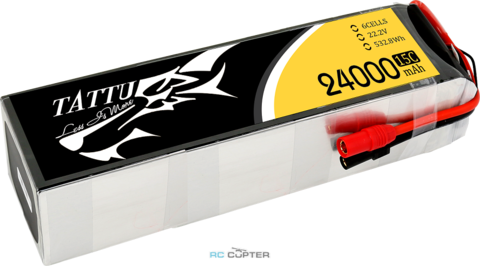 АКБ Gens Ace Tattu 24000mAh 22.2V 25C 6S1P Lipo Battery Pack