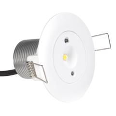 Круглый аварийный светильник встраиваемый в подвесной потолок Starlet White LED SO Intelight