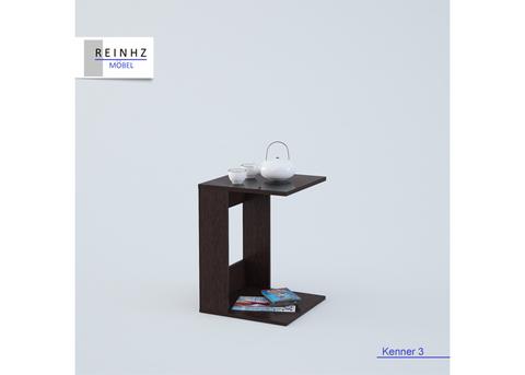 Стол приставной Kenner 3 венге/стекло черное