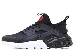 Кроссовки Мужские Nike Air Huarache Run Ultra Hyper Double Black White
