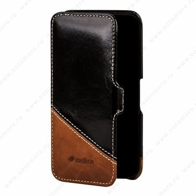 Чехол Melkco для iPhone SE/ 5s/ 5C/ 5 Leather Case Booka Type Mix and Match Series (Vintage Black/ Classic Vintage)