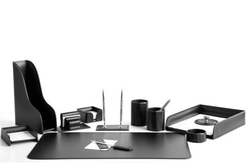 Кожаный набор на стол руководителю из 12 предметов артикул 1161-СТ.