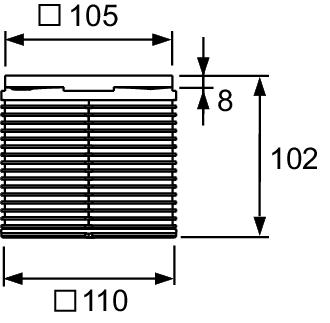 Декоративная решетка TECEdrainpoint S, 100 мм, в пластиковой рамке, с монтажным элементом