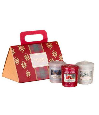 Подарочный набор 3 вотива в сумочке Рождество в Альпах, Yankee Candle