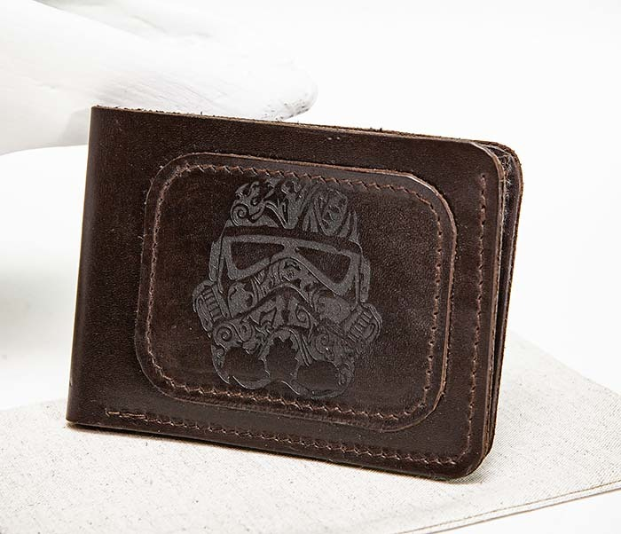 WB158 Мужской кошелек с изображением имперского штурмовика, «Boroda Design» фото 06