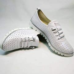 Женская летняя обувь больших размеров Mi Lord 2007 White-Pearl.