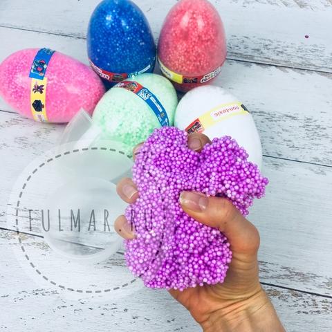 Набор жвачка для рук антистресс мягкий пластилин с шариками внутри в форме яйца  (6 штук)