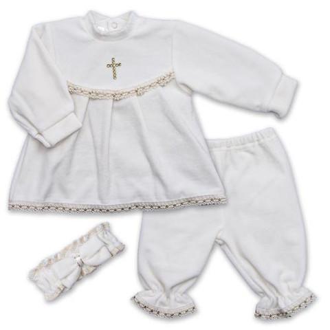 Велюровый наряд на крестины Мария