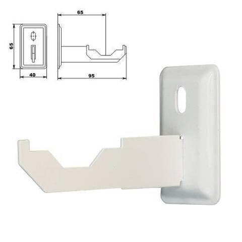 Кронштейн для радиатора настенный ТВЕК.1.2 (универсальный, с пластиковой накладкой)