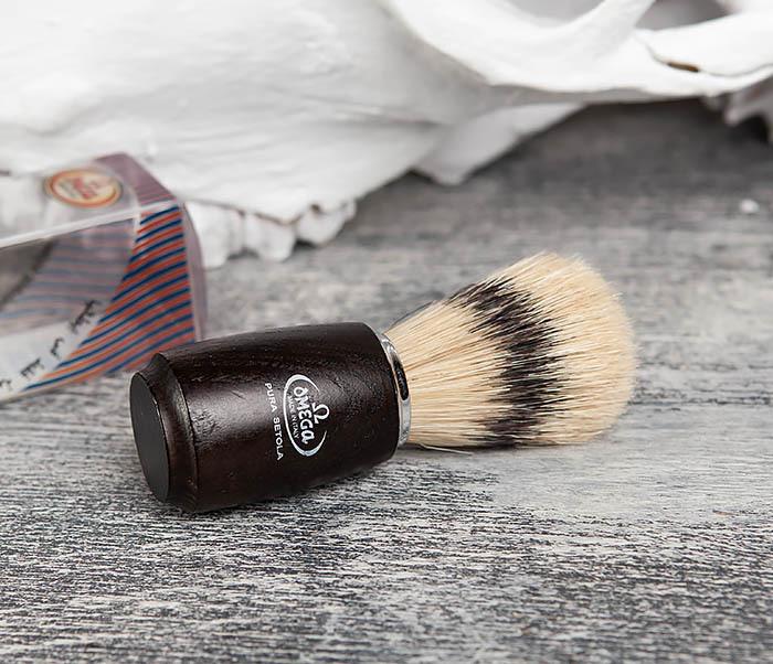 RAZ11712 Итальянский помазок с деревянной рукояткой фото 03