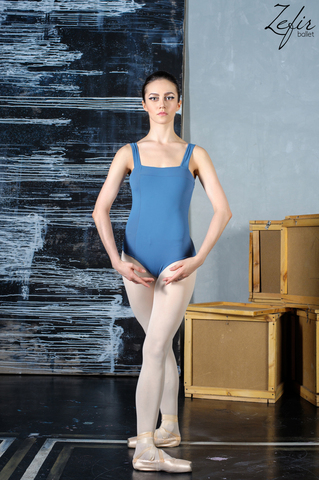 Square leotard (gray)