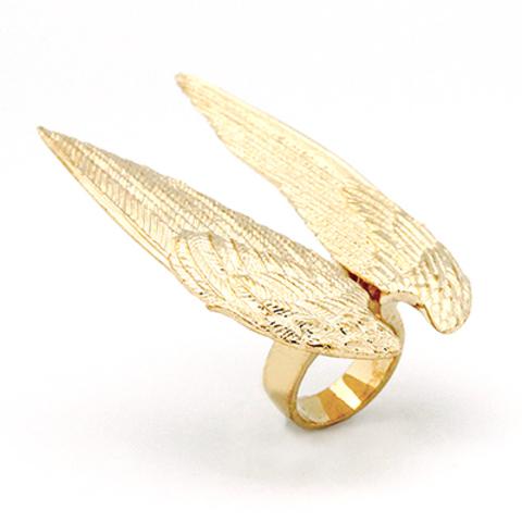 Кольцо Большие крылья (золотые)