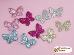 Мягкий декор Бабочки глиттерные (комплект)