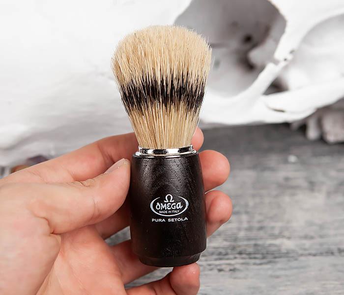 RAZ11712 Итальянский помазок с деревянной рукояткой фото 04