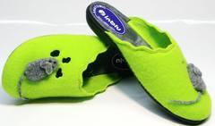 Стильные домашние тапочки женские Inblu NC- 1B Mouse Light Green