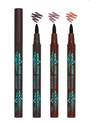 ЛВ Маркер для бровей  tattoo effect тон 01 черно коричневый