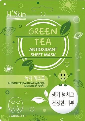 Skinlite Антиоксидантная маска «Зеленый чай» 1шт 15мл ES-902