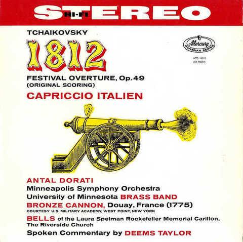 Tchaikovsky / 1812 Festival Overture Op. 49, Capriccio Italien (2LP)