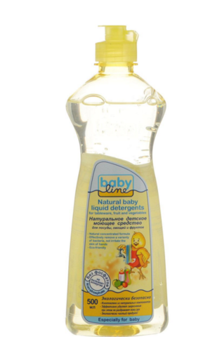 Babyline. Натуральное детское моющее средство для посуды, овощей и фруктов 500 мл