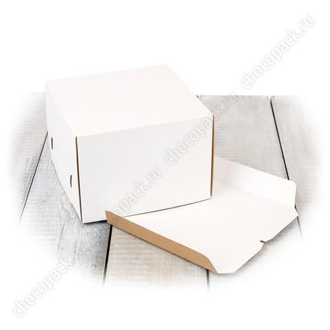 Короб 21,5 х 21,5 х 15 см для тортов до 3 кг